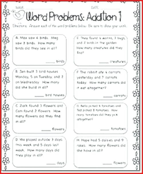 Word Problems Worksheets 1st Grade Math Word Problems Worksheets 1st Grade لم يسبق له Ù…Ø ÙŠÙ""