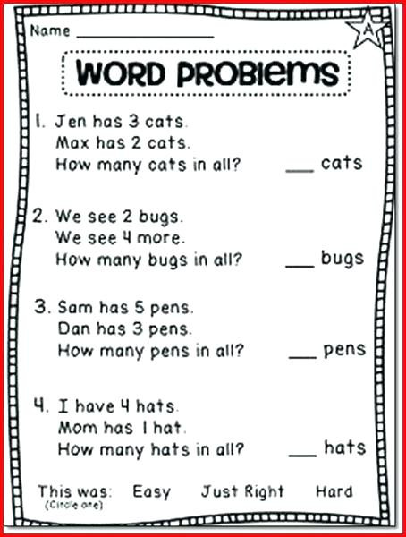 Word Problems Worksheets 1st Grade Word Problems Worksheets 1st Grade Picture Math Subtraction
