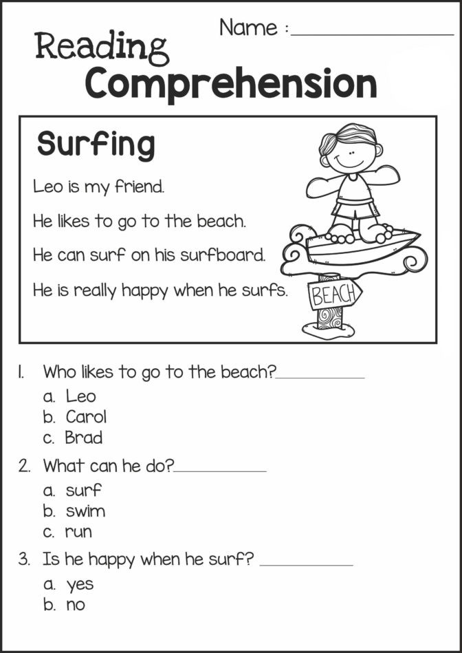 1st Grade Comprehension Worksheets Free Math Worksheet Tremendous Grade 2 Reading Prehension
