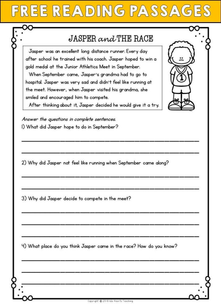 1st Grade Comprehension Worksheets Free Worksheet Pin Reading Give Me 2nd Gradelish Test with