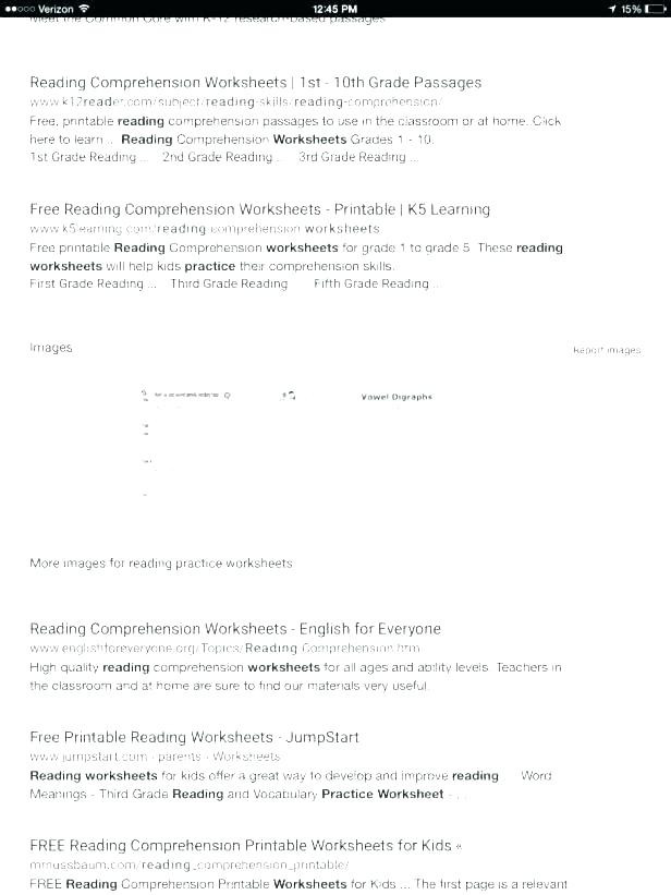 1st Grade Comprehension Worksheets Free Worksheet Writing Worksheets Kindergarten Reading