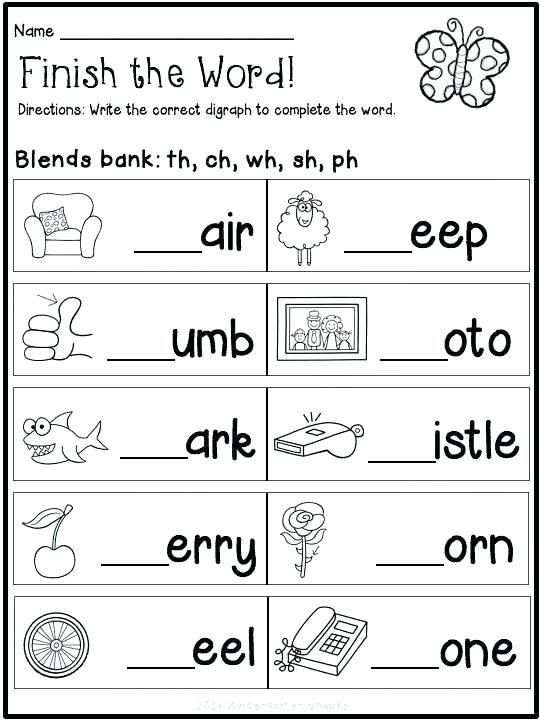 1st Grade Phonics Worksheets Pdf Reading Blends Worksheets for Kindergarten Free Pdf