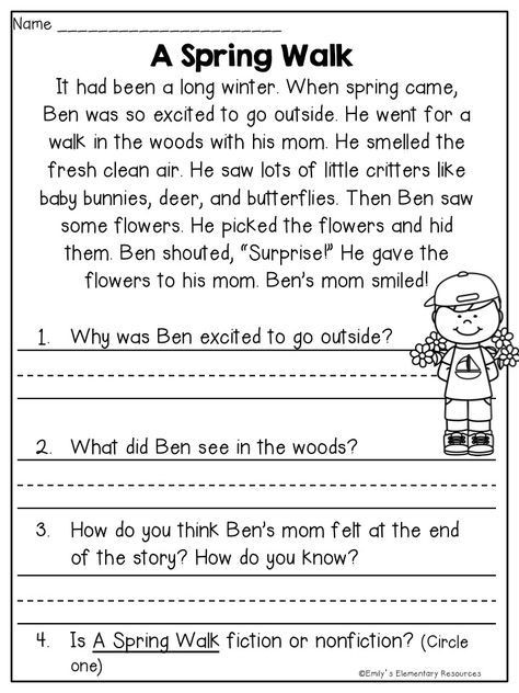 1st Grade Reading Fluency Worksheets Spring Fling Writing & Literacy Activities