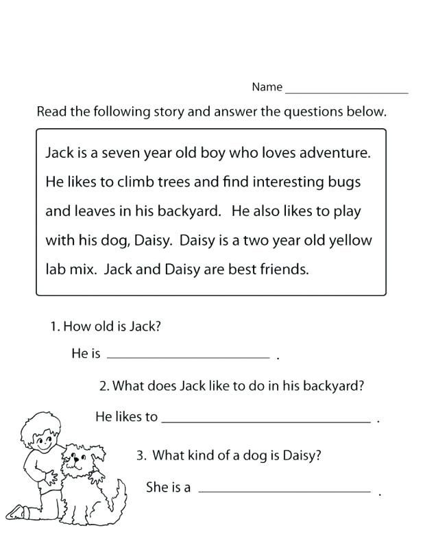 1st Grade Reading Worksheets Printable 1st Grade Reading Worksheets