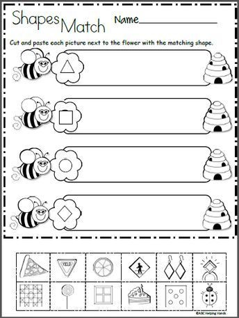 2d Shapes Worksheets Kindergarten Free 2d Shapes Math Worksheet for Kindergarten