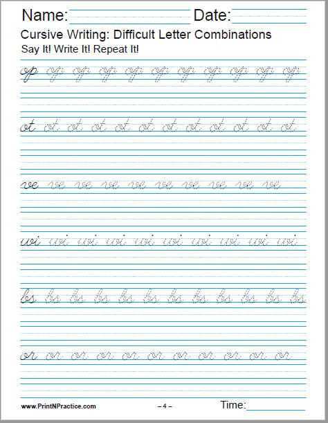 2nd Grade Handwriting Worksheets Pdf 50 Cursive Writing Worksheets ⭐ Alphabet Sentences Advanced