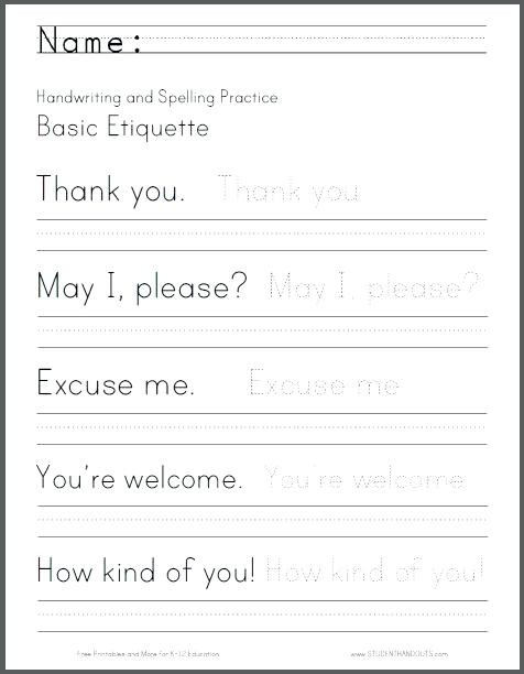 2nd Grade Handwriting Worksheets Pdf Penmanship Worksheets Penmanship Worksheets Printable