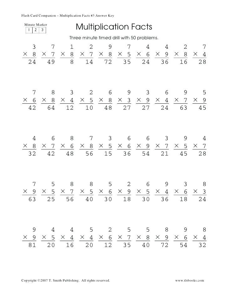 2nd Grade Minute Math Worksheets Timed Math Problems E Minute Math Worksheets E Minute