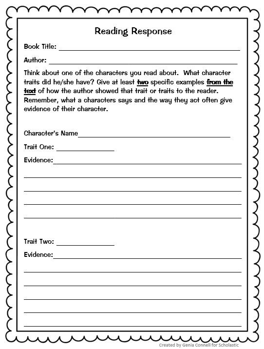 2nd Grade Reading Response Worksheets Instant Lesson Plans for Any Book Perfect for Substitutes
