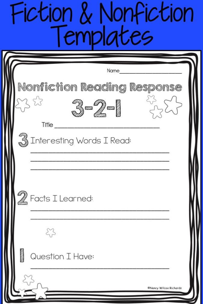 2nd Grade Reading Response Worksheets these Reading Response Activities are Perfect for First