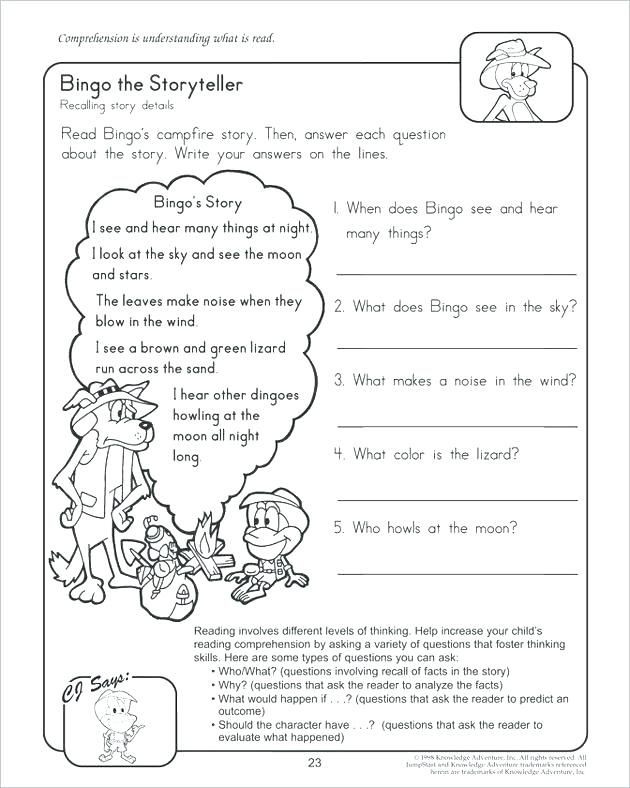 2nd Grade Reading Worksheets Printable Free Second Grade Reading Worksheets Activities Printable