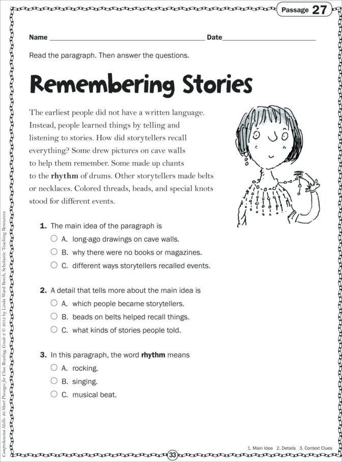 2nd Grade Reading Worksheets Printable Math Worksheet Reading Fluency Passages 2nd Grade