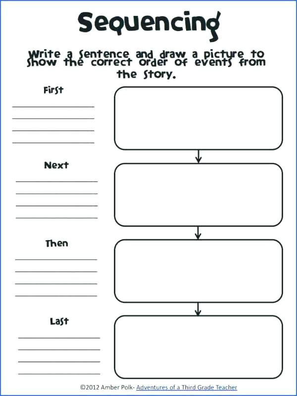 2nd Grade Sequencing Worksheets Story Sequencing Worksheets for Grade Activities Sequence Of