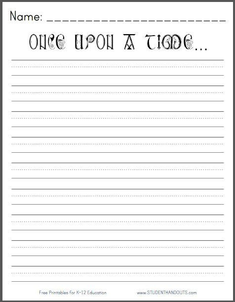 2nd Grade Writing Worksheets Pdf Ce Upon A Time Printable Writing Prompt