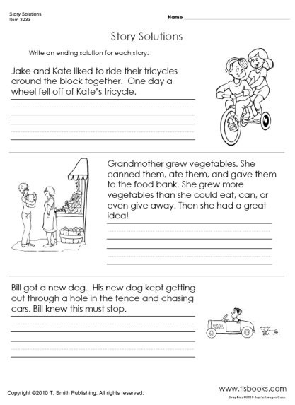 2nd Grade Writing Worksheets Pdf Story solutions