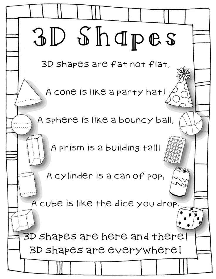 3d Shapes Worksheet for Kindergarten 3 D Shapes Lessons Tes Teach