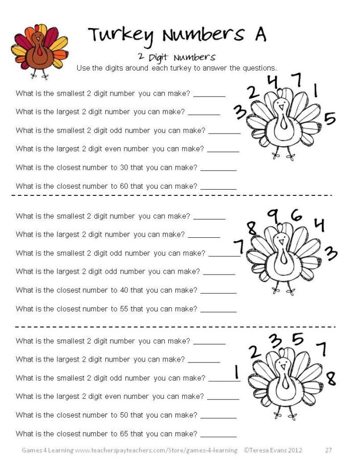 3rd Grade Brain Teasers Worksheets Thanksgiving Math Worksheets Games Puzzles Brain Teasers 3rd