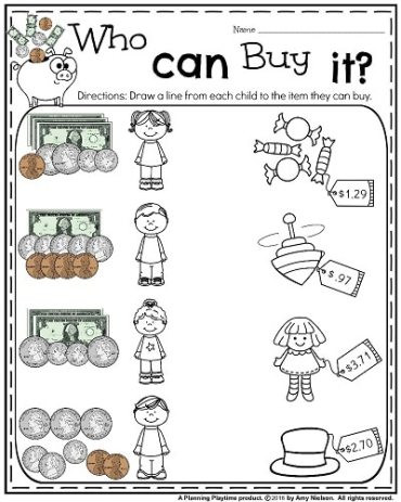 3rd Grade Money Worksheets Money Worksheets for 2nd Grade Planning Playtime