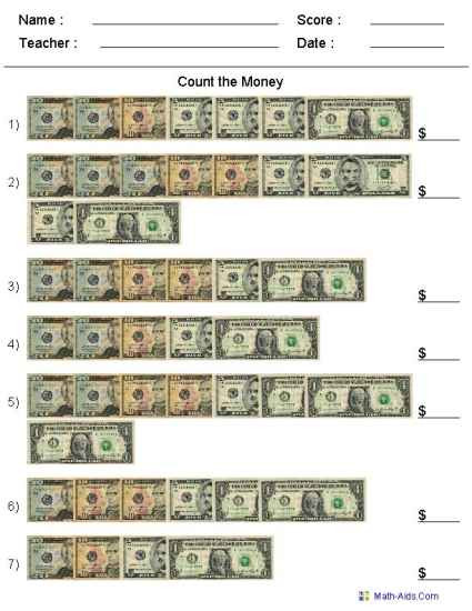 3rd Grade Money Worksheets Money Worksheets