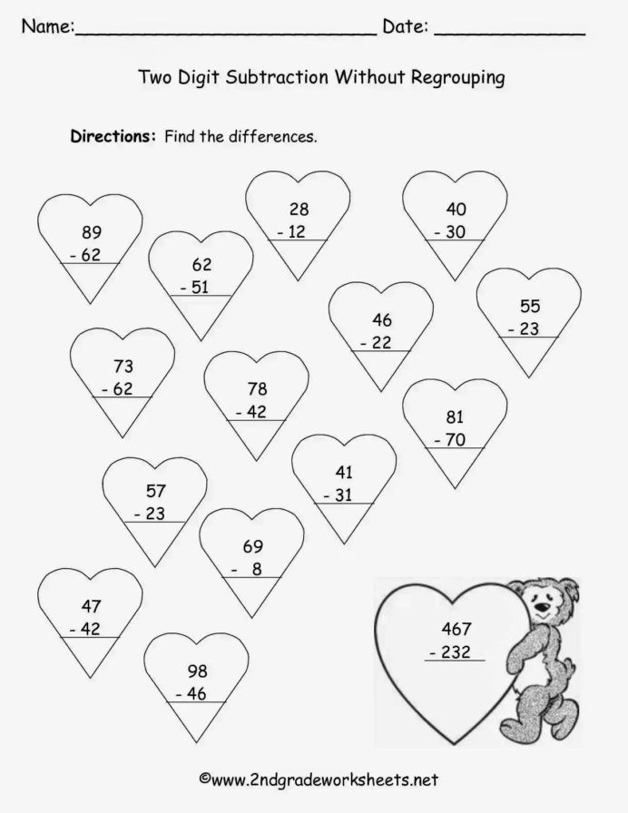 3rd Grade Regrouping Worksheets Addition Regrouping Worksheets Grade Coloring for Difference