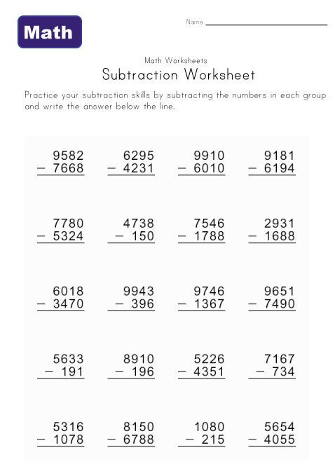 3rd Grade Regrouping Worksheets Math Help Worksheets Practice Subtraction