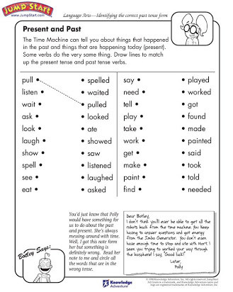 3rd Grade Verb Tense Worksheets Free Printable Past Tense Verb Worksheets