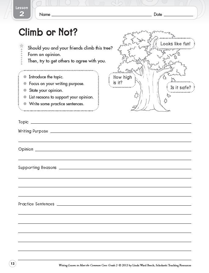 4th Grade Essay Writing Worksheets Graphic organizers for Opinion Writing