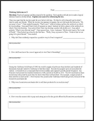 4th Grade Inferencing Worksheets Free Making Inferences Worksheets 6th Grade
