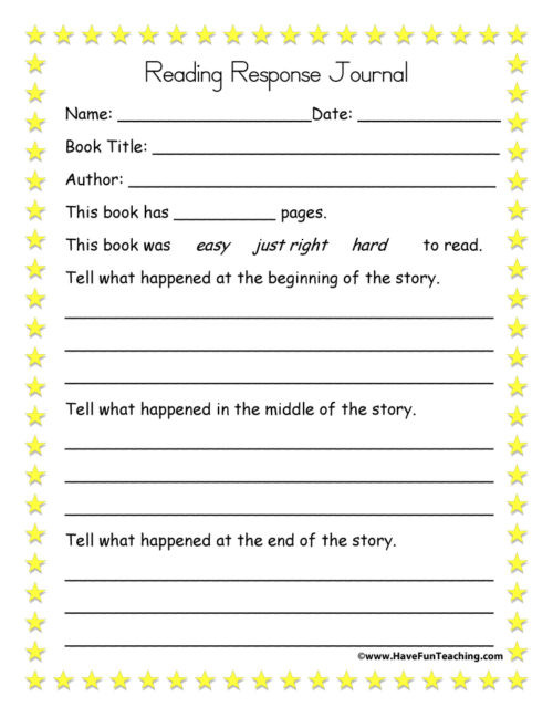 4th Grade Reading Response Worksheets Summarizing Worksheets • Have Fun Teaching