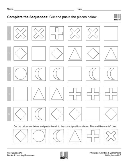 4th Grade Sequencing Worksheets Plete the Sequences Worksheet Activity – Set 4