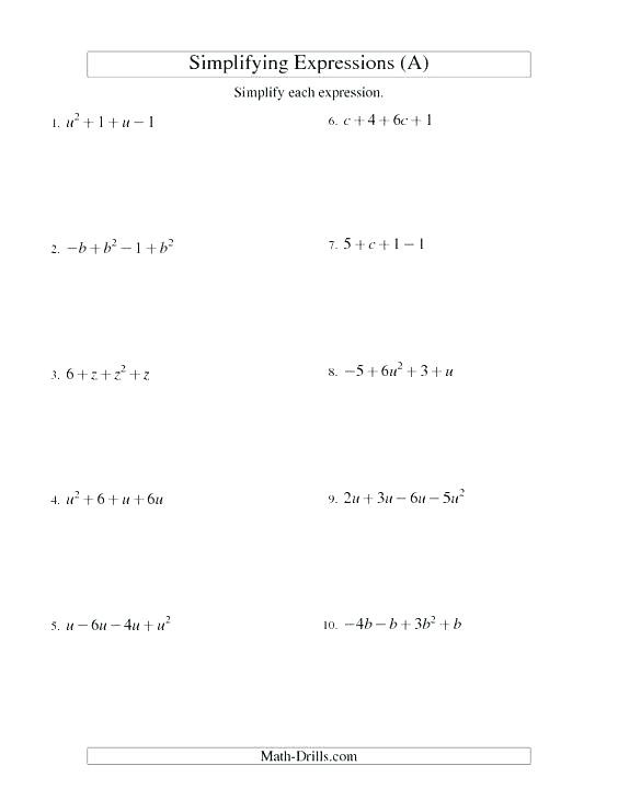 5th Grade Algebraic Expressions Worksheets Evaluating Numerical Expressions Worksheets 6th Grade