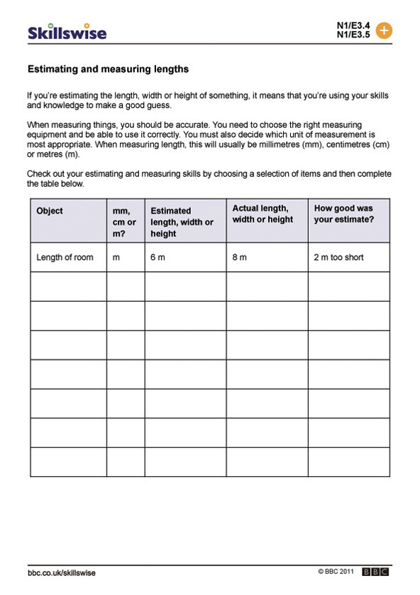 5th Grade Metric Conversion Worksheets Length Worksheets Year 5