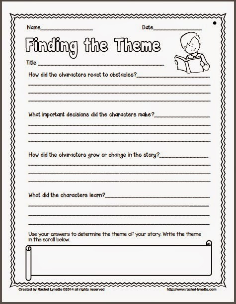 5th Grade theme Worksheets Ideas for Teaching theme and Couple Freebies Minds In Bloom