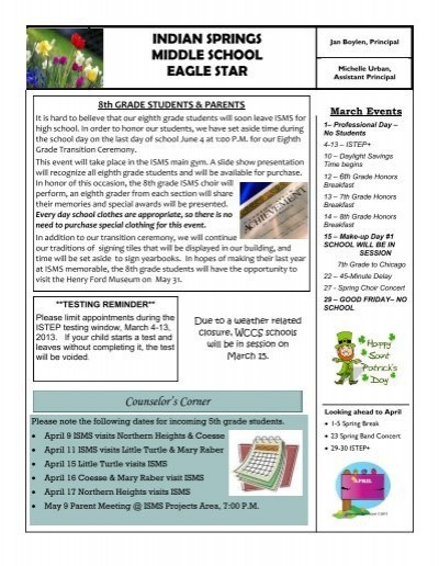 6th Grade istep Practice Worksheets Indian Springs Middle School Eagle Star