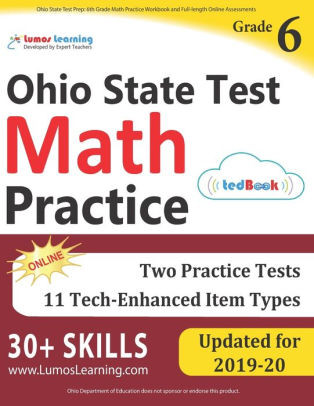 6th Grade istep Practice Worksheets Ohio State Test Prep 6th Grade Math Practice Workbook and Full Length Line assessments Ost Study Guide Paperback