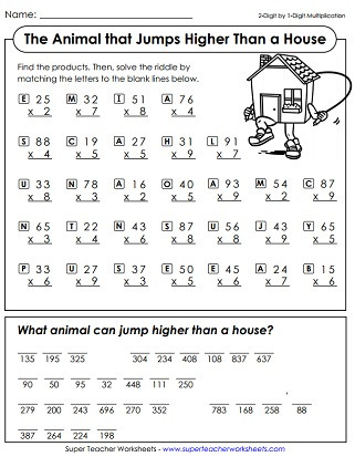 6th Grade Math Puzzles Worksheets Math Riddle Worksheets