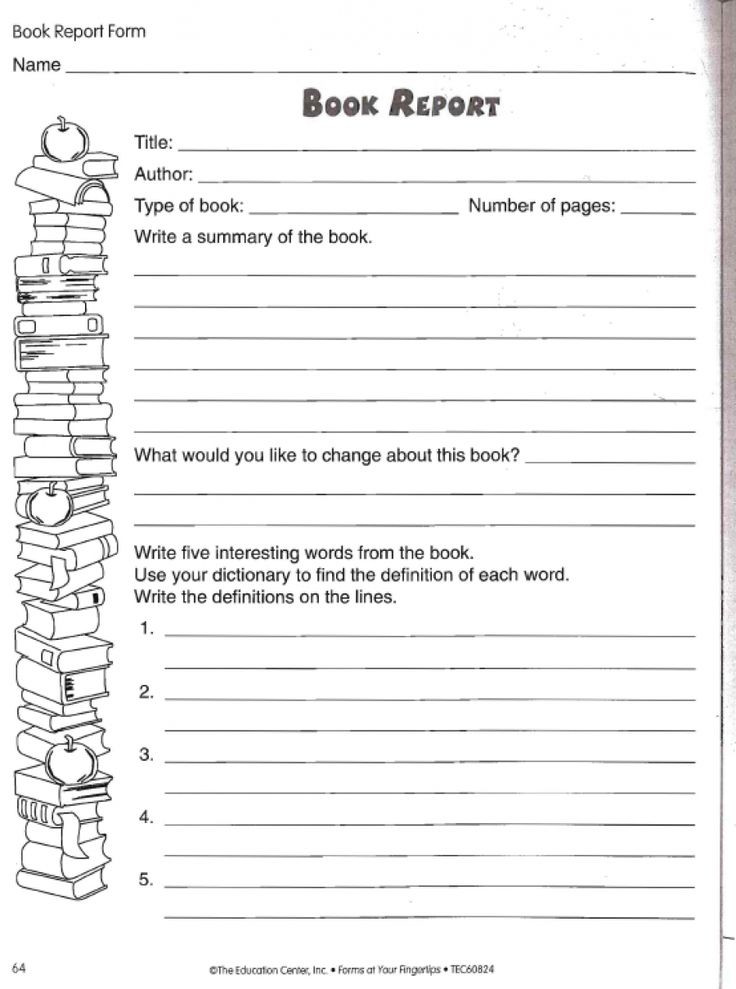 6th Grade Summarizing Worksheets Book Report Worksheet