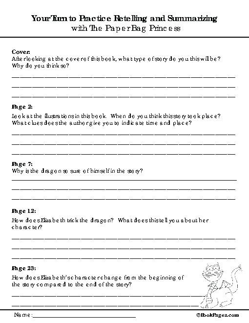 6th Grade Summarizing Worksheets Summarizing Worksheets 2nd Grade Free Printable