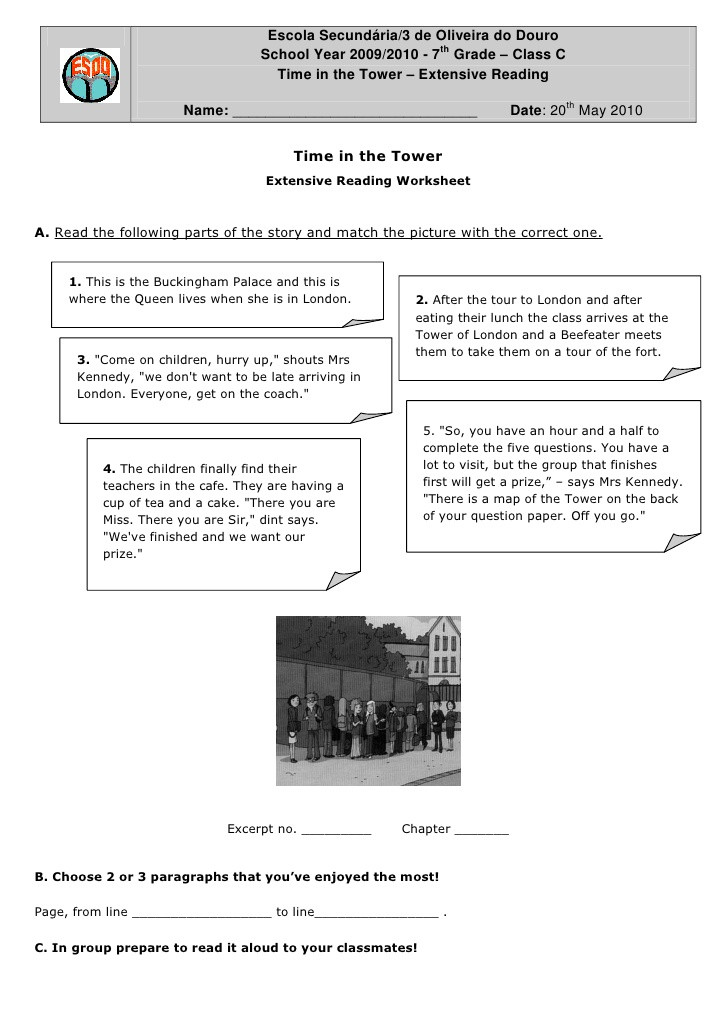 7th Grade Statistics Worksheets Chapter1 Worksheet Time In the tower L1