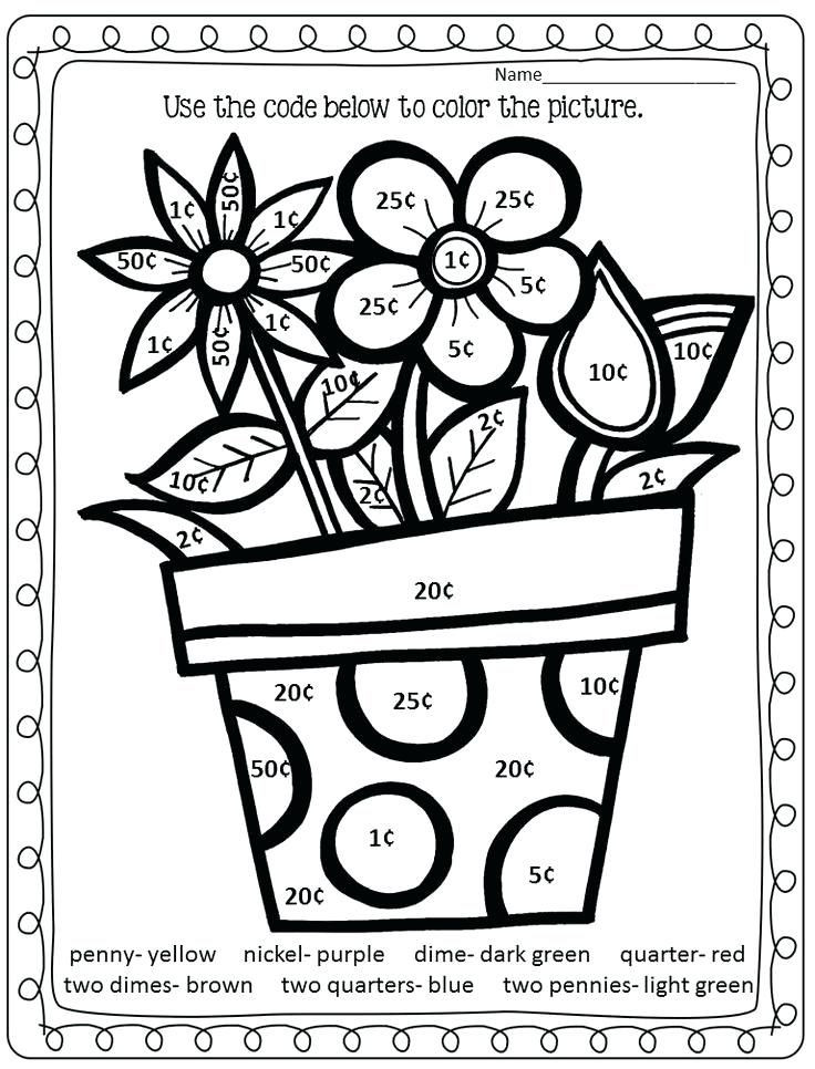 Addition Coloring Worksheets for Kindergarten Math Coloring Pages