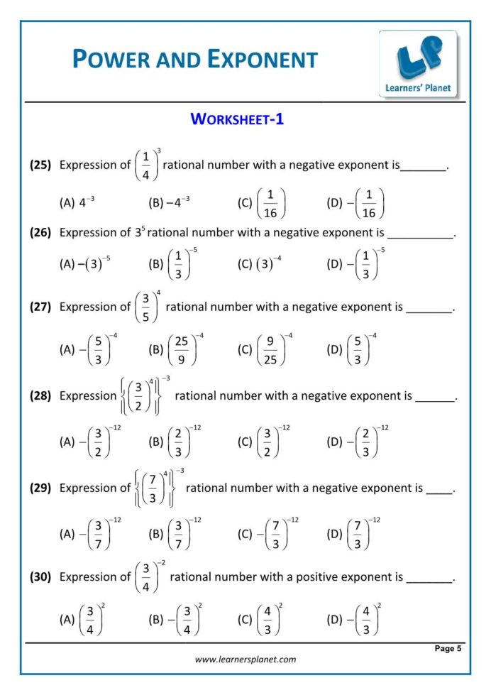 Algebra Tiles Worksheets 6th Grade Math Unit Plan Powers and Exponents Worksheets Grade 8 Free