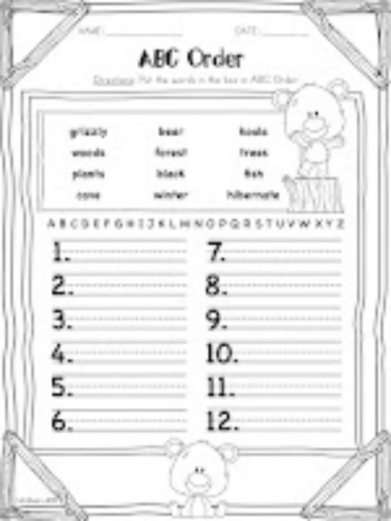 Alphabetical order Worksheets 2nd Grade Write Essay About Environment