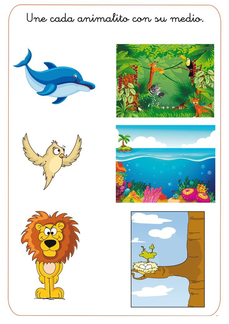 Animal Habitat Worksheets for Kindergarten Animal Habitat Worksheet for Kids 1