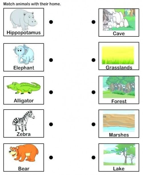 Animal Habitat Worksheets for Kindergarten Animal Habitat Worksheets for Kindergarten In 2020