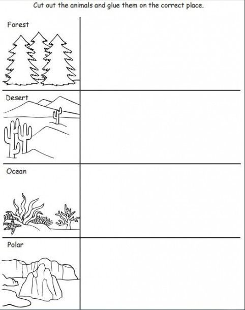 Animal Habitat Worksheets for Kindergarten Animal Habitat Worksheets
