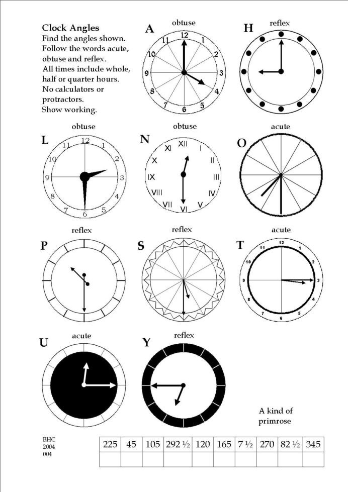 Arrays Worksheets Grade 2 An Exercise In Deducing Angles 4th Grade Math Activities