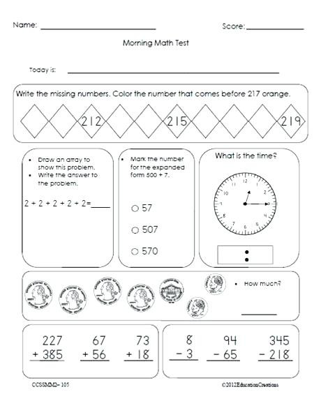 Arrays Worksheets Grade 2 Math Work Math Worksheets for Kindergarten and First Grade