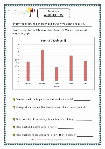 Bar Graph Worksheets Grade 7 Science Charts and Graphs Worksheets Middle School Science