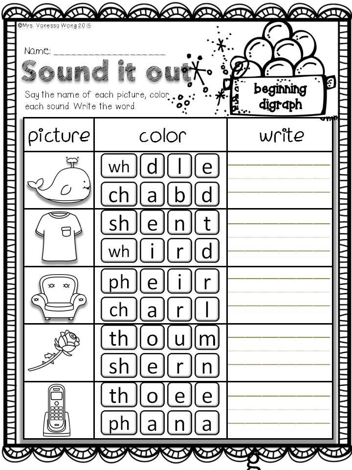 Blending Worksheets 1st Grade Winter Math and Literacy No Prep Printables First Grade