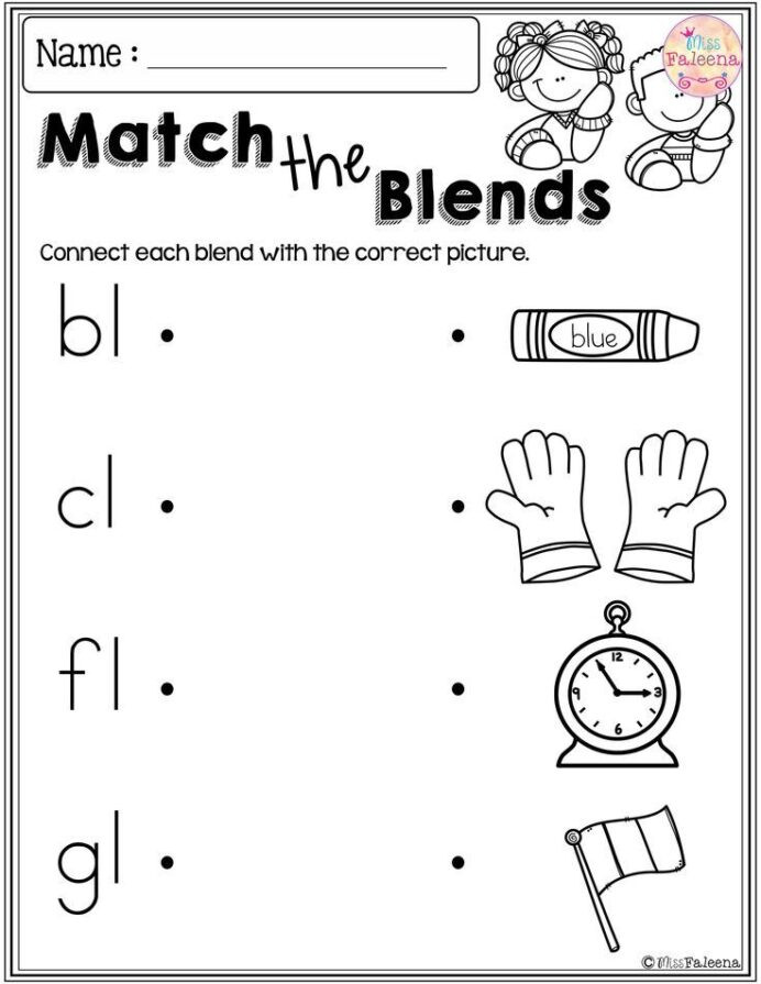 Blends Worksheet for First Grade Free Beginning Blends Activities Worksheets Best Math Help